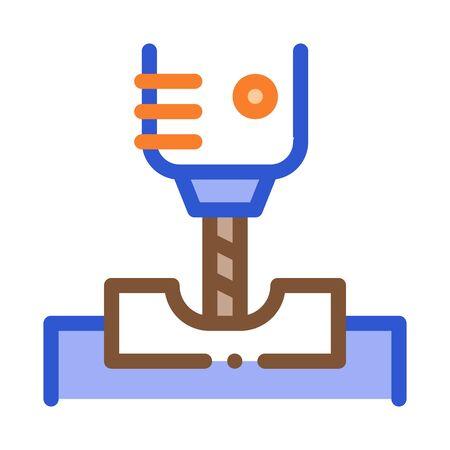 Manufacturing Process Metallurgical Icon Vector Thin Line. Contour Illustration Ilustração