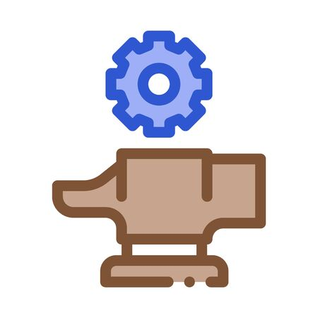 Spare Parts for Production Metallurgical Icon Vector Thin Line. Contour Illustration