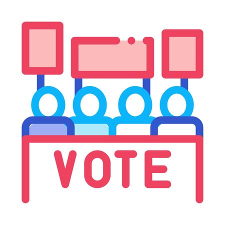 Election Icon Vector. Outline Election Sign. Isolated Contour Symbol Illustration