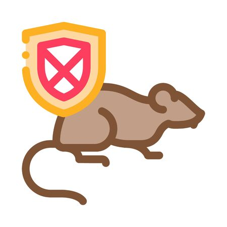 Rat Ban Icon Vector. Outline Rat Ban Sign. Isolated Contour Symbol Illustration