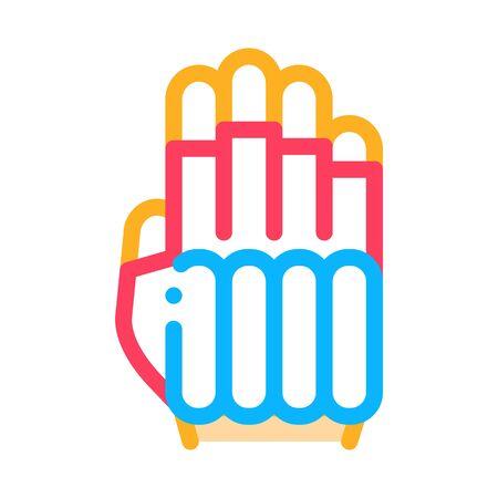 Protective Glove Icon Vector. Outline Protective Glove Sign. Isolated Contour Symbol Illustration Ilustração