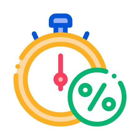 Time is Interest Icon Vector. Outline Time is Interest Sign. Isolated Contour Symbol Illustration Stock Illustratie