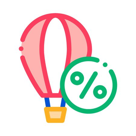 Travel Air Balloon Icon Vector. Outline Travel Air Balloon Sign. Isolated Contour Symbol Illustration