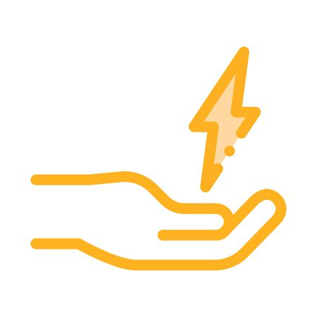 Strong Person Energy Icon Vector. Outline Strong Person Energy Sign. Isolated Contour Symbol Illustration