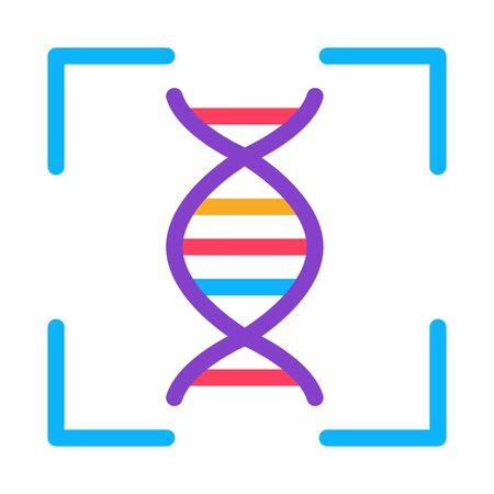 Human DNA Testing Icon Vector. Outline Human DNA Testing Sign. Isolated Contour Symbol Illustration Illusztráció