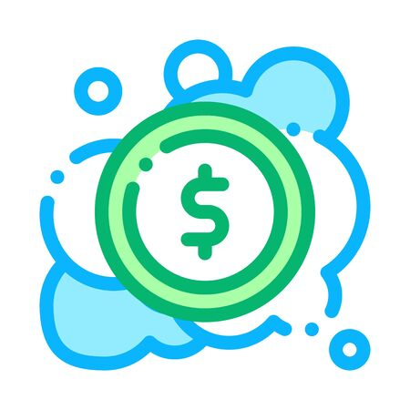 Laundered Cash Money Icon Vector. Outline Laundered Cash Money Sign. Isolated Contour Symbol Illustration