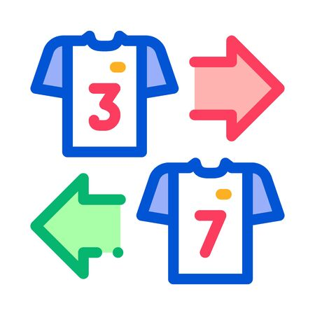 Teams T-shirt Exchange Icon Vector. Outline Teams T-shirt Exchange Sign. Isolated Contour Symbol Illustration Illustration