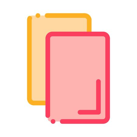 Cards Notice Or Remove Icon Vector. Outline Cards Notice Or Remove Sign. Isolated Contour Symbol Illustration Illustration