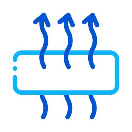 Atmungsaktive Matratze Symbol Vektor. Umriss atmungsaktives Matratzen-Zeichen. Isolierte Kontur Symbol Illustration Vektorgrafik