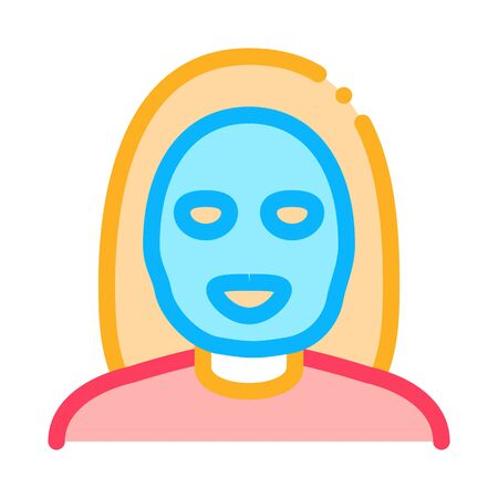 Woman Healthcare Mask Icon Vector. Outline Woman Healthcare Mask Sign. Isolated Contour Symbol Illustration