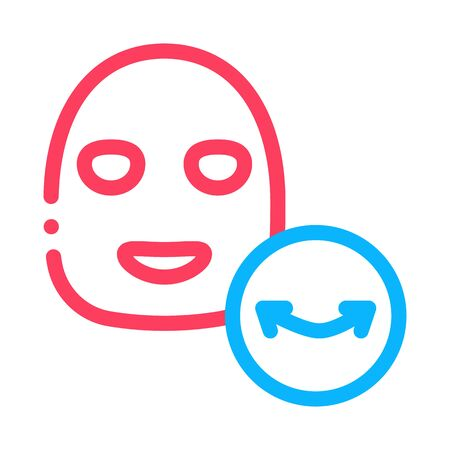 Wrinkle Face Mask Icon Vector. Outline Wrinkle Face Mask Sign. Isolated Contour Symbol Illustration