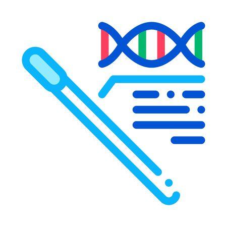 Cotton Swab Dna Molecule Icon Vector. Outline Cotton Swab Dna Molecule Sign. Isolated Contour Symbol Illustration Illusztráció