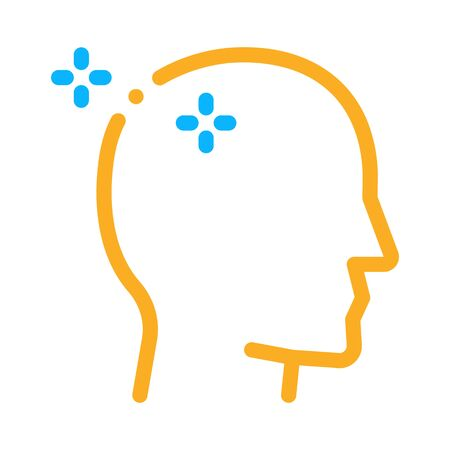 Baldheaded Man Icon Vector. Outline Baldheaded Man Sign. Isolated Contour Symbol Illustration