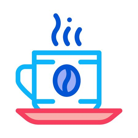 Coffee Cup Drink Icon Vector. Outline Coffee Cup Drink Sign. Isolated Contour Symbol Illustration Ilustracja