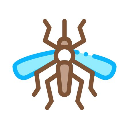 Mosquito Insect Icon Vector. Outline Mosquito Insect Sign. Isolated Contour Symbol Illustration