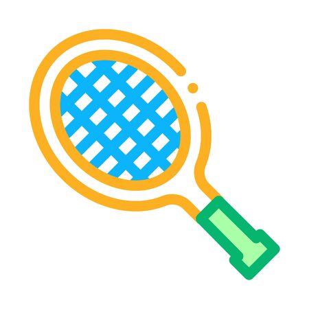 Tennis Racket Icon Vector. Outline Tennis Racket Sign. Isolated Contour Symbol Illustration Vektorgrafik