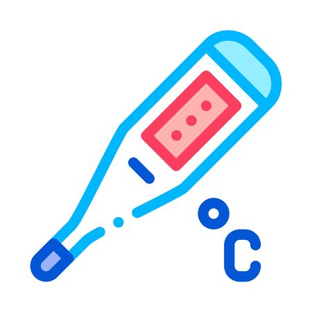 Thermometer Tool Icon Vector. Outline Thermometer Tool Sign. Isolated Contour Symbol Illustration