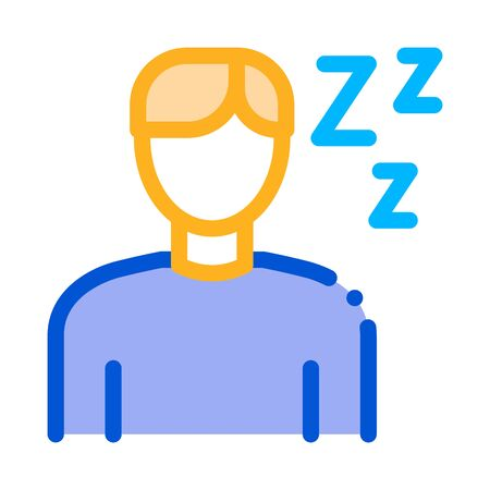 Drowsiness Man Icon Vector. Outline Drowsiness Man Sign. Isolated Contour Symbol Illustration