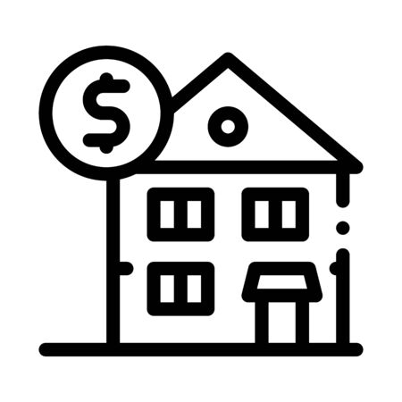 House Mortgage Icon Vector. Outline House Mortgage Sign. Isolated Contour Symbol Illustration 向量圖像