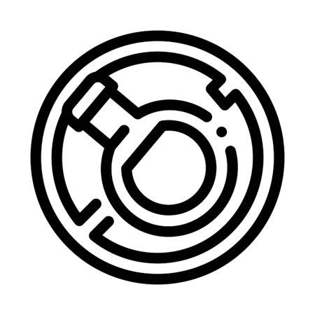 Bottle Crossed Icon Vector. Outline Bottle Crossed Sign. Isolated Contour Symbol Illustration Çizim