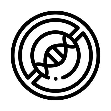 Molecule Crossed Icon Vector. Outline Molecule Crossed Sign. Isolated Contour Symbol Illustration Çizim