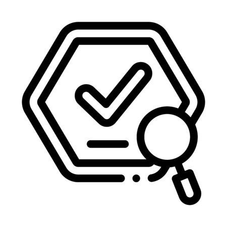 Check Mark Icon Vector. Outline Check Mark Sign. Isolated Contour Symbol Illustration