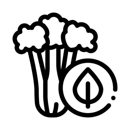 Сelery Plant Icon Vector. Outline Сelery Plant Sign. Isolated Contour Symbol Illustration