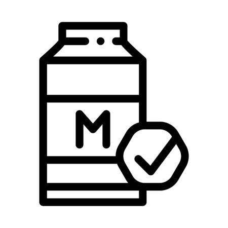 Milk Bottle Icon Vector. Outline Milk Bottle Sign. Isolated Contour Symbol Illustration