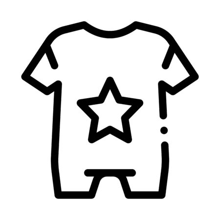 Baby Clothes Icon Vector. Outline Baby Clothes Sign. Isolated Contour Symbol Illustration