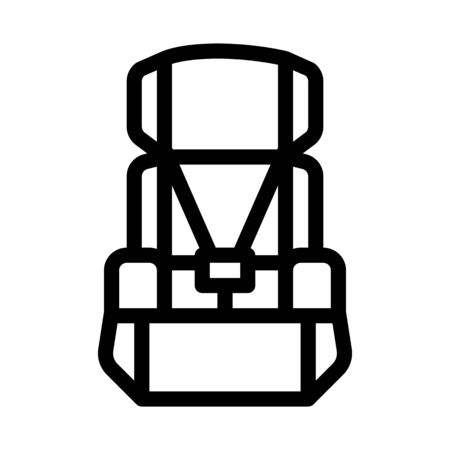 Child Seat Chair Icon Vector. Outline Child Seat Chair Sign. Isolated Contour Symbol Illustration