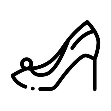 Female Shoe Icon Vector. Outline Female Shoe Sign. Isolated Contour Symbol Illustration 일러스트