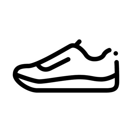 Sneaker Shoe Icon Vector. Outline Sneaker Shoe Sign. Isolated Contour Symbol Illustration