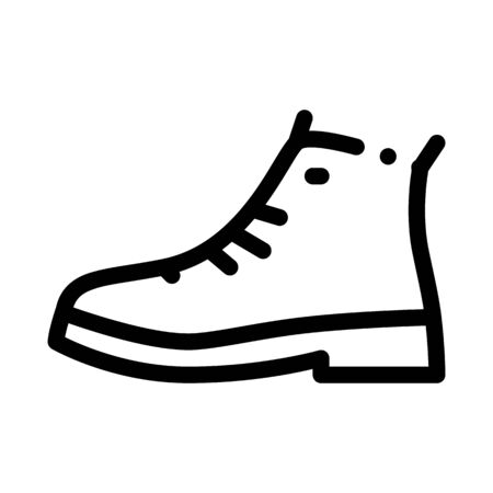 Repaired Shoe Icon Vector. Outline Repaired Shoe Sign. Isolated Contour Symbol Illustration 일러스트