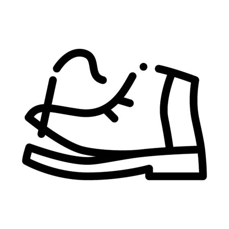 Torn Shoe Thread Icon Vector. Outline Torn Shoe Thread Sign. Isolated Contour Symbol Illustration 일러스트
