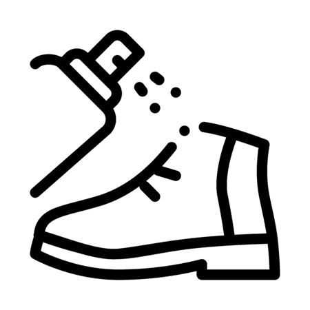 Spray Paint Shoe Icon Vector. Outline Spray Paint Shoe Sign. Isolated Contour Symbol Illustration