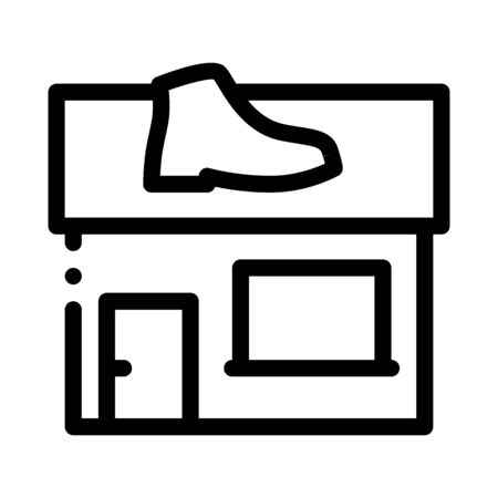 Shoe Repair Build Icon Vector. Outline Shoe Repair Build Sign. Isolated Contour Symbol Illustration 일러스트