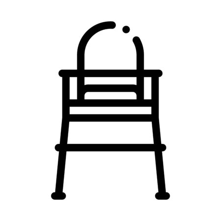 Chair For Feeding Icon Vector. Outline Chair For Feeding Sign. Isolated Contour Symbol Illustration