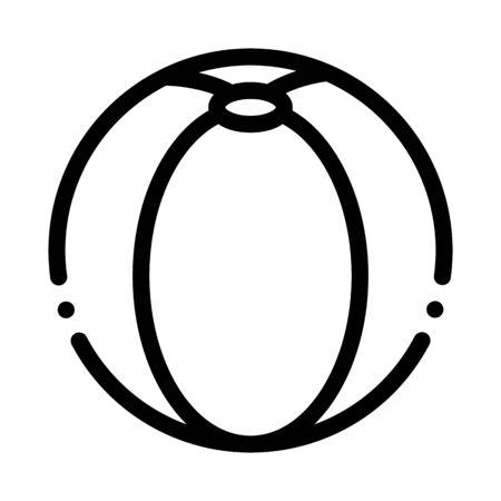 Ball-Symbol-Vektor spielen. Umrisse, die Ballzeichen spielen. Isolierte Kontur Symbol Illustration
