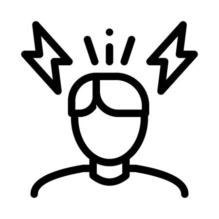 Stressed Man Icon Vector. Outline Stressed Man Sign. Isolated Contour Symbol Illustration Foto de archivo - 138189653