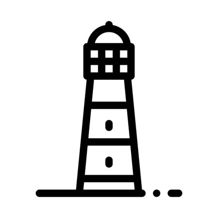 Lighthouse Icon Vector. Outline Lighthouse Sign. Isolated Contour Symbol Illustration Illustration