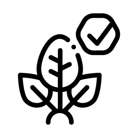 Plant Access Mark Icon Vector. Outline Plant Access Mark Sign. Isolated Contour Symbol Illustration
