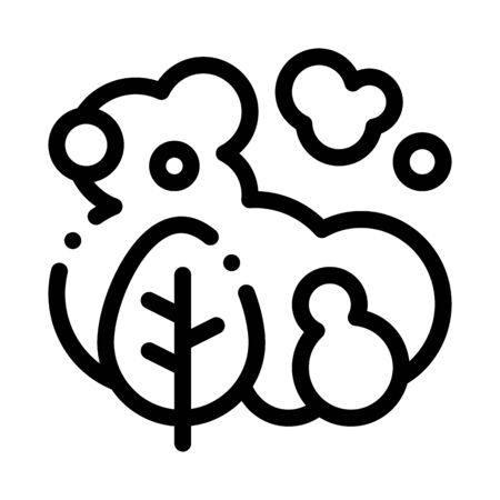 Smoke Plant Icon Vector. Outline Smoke Plant Sign. Isolated Contour Symbol Illustration Illusztráció