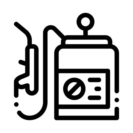 Spray Equipment Icon Vector. Outline Spray Equipment Sign. Isolated Contour Symbol Illustration