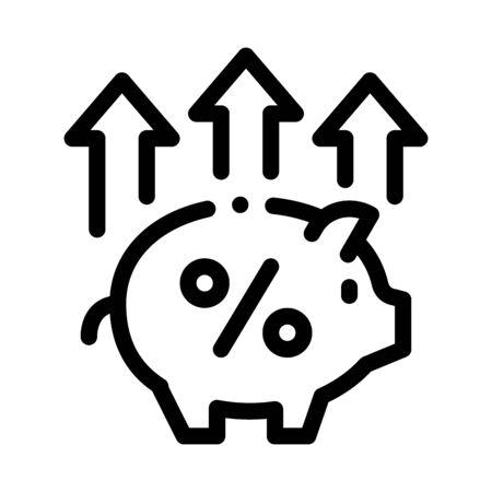 Pig Money Box Icon Vector. Outline Pig Money Box Sign. Isolated Contour Symbol Illustration Illusztráció