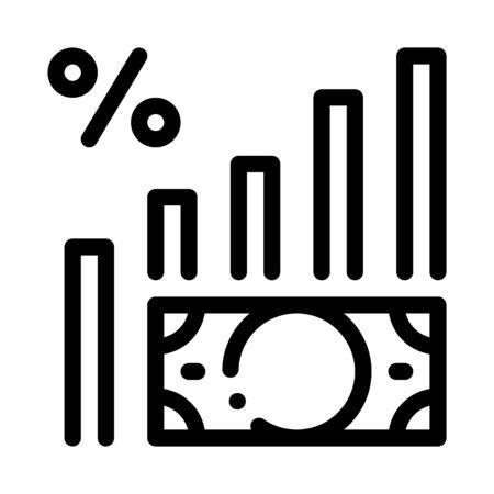 Money Infographic Icon Vector. Outline Money Infographic Sign. Isolated Contour Symbol Illustration Illusztráció