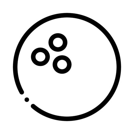 Bowling Ball Icon Vector. Outline Bowling Ball Sign. Isolated Contour Symbol Illustration