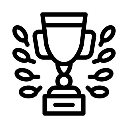 Champion Cup Icon Vector. Outline Champion Cup Sign. Isolated Contour Symbol Illustration