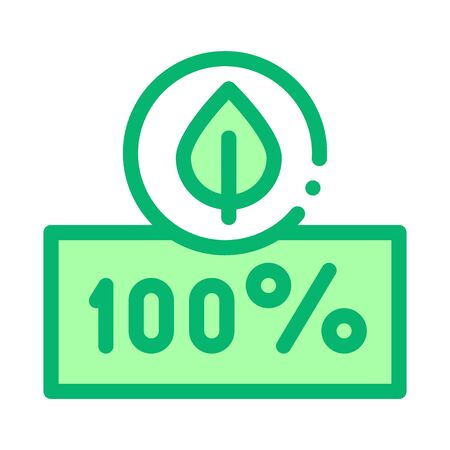 Hundred Percent Icon Vector. Outline Hundred Percent Sign. Isolated Contour Symbol Illustration Ilustrace