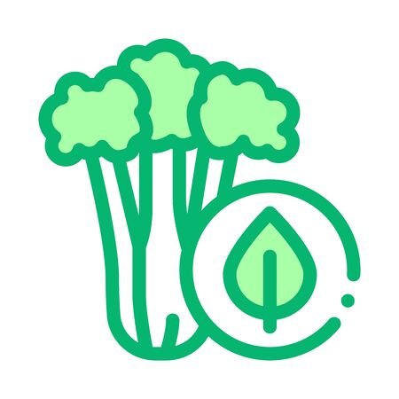 elery Plant Icon Vector. Outline elery Plant Sign. Isolated Contour Symbol Illustration