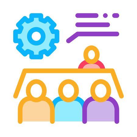 Meeting Training Icon Vector. Outline Meeting Training Sign. Isolated Contour Symbol Illustration Ilustração